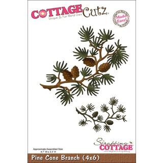 """CottageCutz Die 4""""X6""""-Pine Cone Branch Made Easy"""