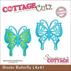 """CottageCutz Die 4""""X4""""-Ornate Butterfly Made Easy"""