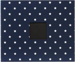 "Patterned D-Ring Album 12""X12""-Navy Stars"