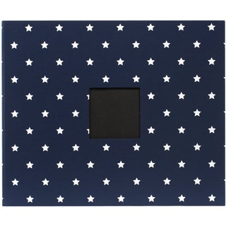 "Patterned D-Ring Album 12""X12""-Navy Stars"