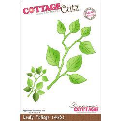 """CottageCutz Die 4""""X6""""-Leafy Foliage Made Easy"""