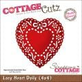 "CottageCutz Die 4""X4""-Lacy Heart Doily Made Easy"