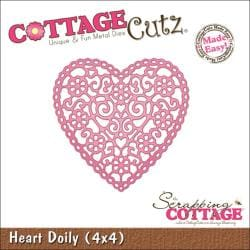 "CottageCutz Die 4""X4""-Heart Doily"