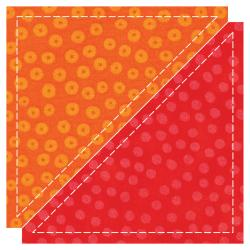 GO! Fabric Cutting Dies-Half Square -4-1/2