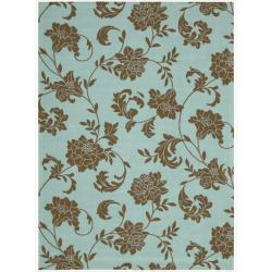 Nourison Home and Garden Light Blue Indoor/Outdoor Rug (5'3 x 7'5)