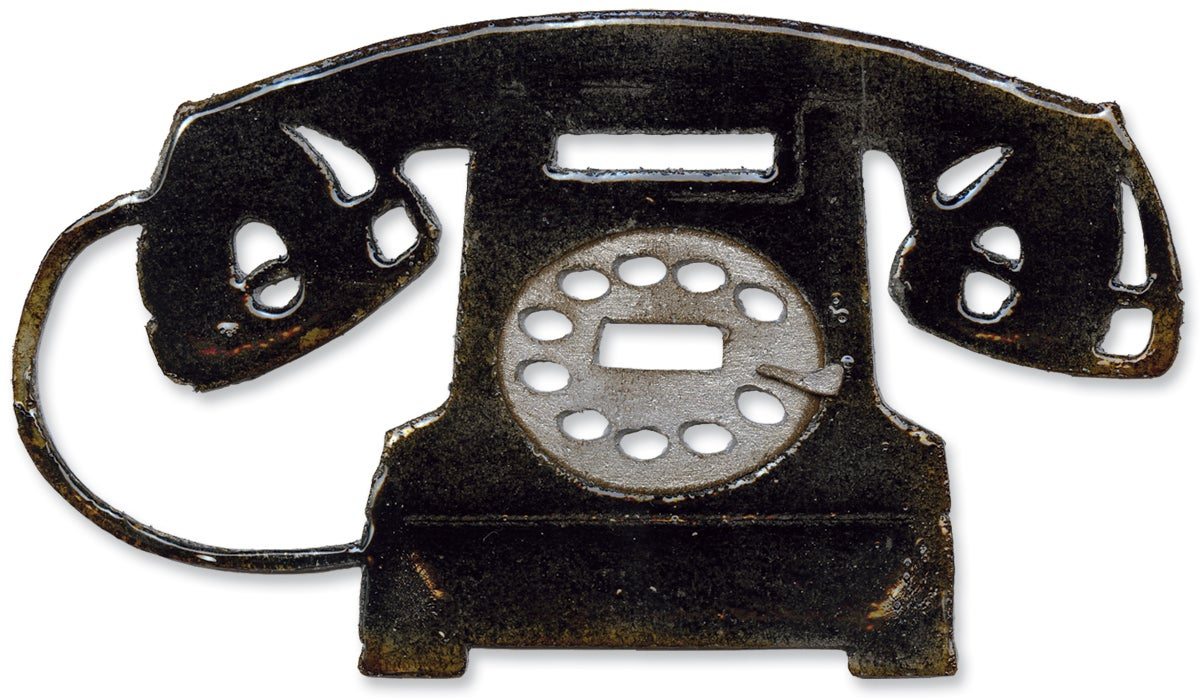 Sizzix Bigz Die By Tim Holtz-Vintage Telephone
