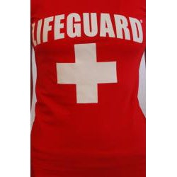 Lifeguard Licensed-logo Red/White Junior Cotton/Spandex T-Shirt