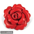 Handmade Rose Blossoms Leather Floral Pin (Thailand)