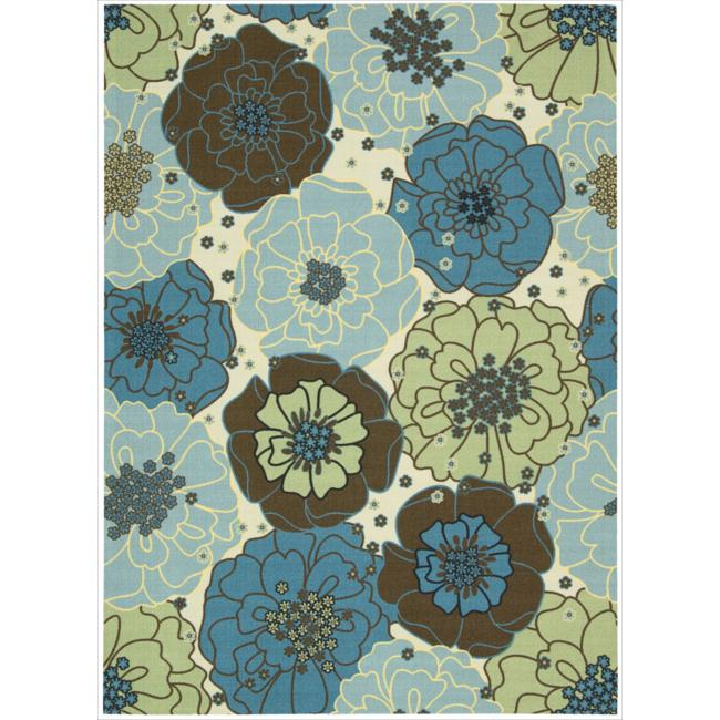 Nourison Home and Garden Blue Floral Indoor/Outdoor Rug (10' x 13') at Sears.com