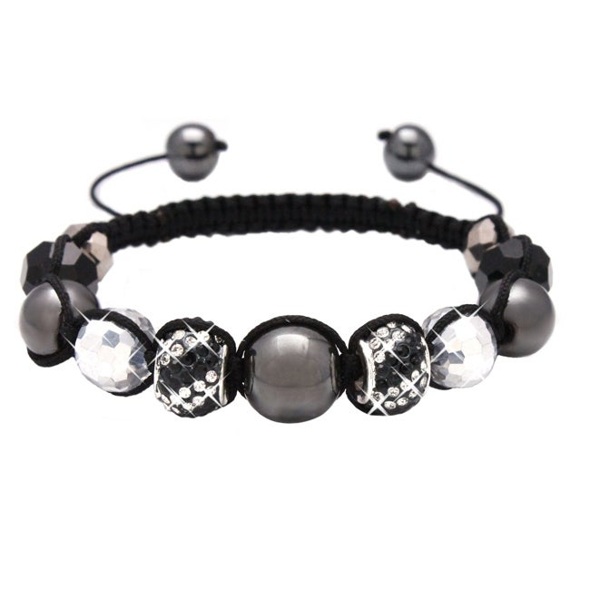 Karma Collection Black Crystal Edition Macrame Bracelet