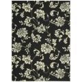 Nourison Home and Garden Black Indoor/Outdoor Rug (7'9 x 10'10)