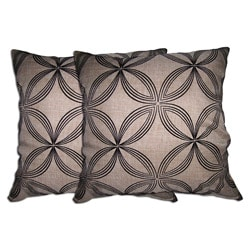 Beige Geometric Decorative Pillow (Set of 2)