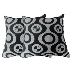 Grey Geometric Decorative Pillow (Set of 2)