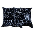 Decorative Floral Polyester Pillow (Set of Two)