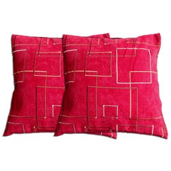 Decorative Polyester Pillow ( Set of 2 )