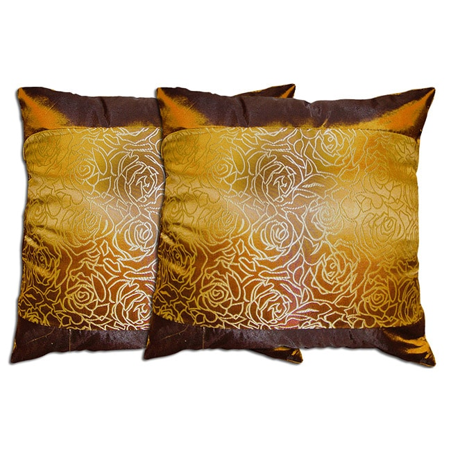 Decorative Coffee Polyester Pillow (Set of 2)