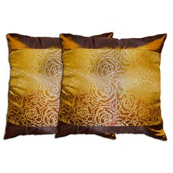 Decorative Coffee Polyester Pillow (Set of Two)