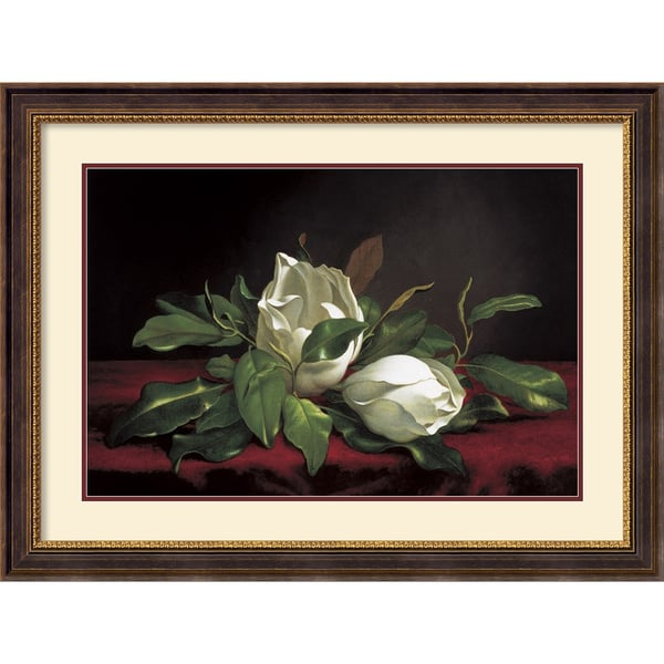 Martin Johnson Heade 'Magnolia Buds' Framed Art Print