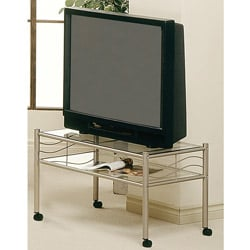 Champagne Gold Metal 32-inch TV Stand with Tempered Glass