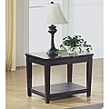 Cappuccino Veneer End Table