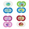 MAM Monsters Orthodontic Silicone Pacifiers (Pack of 2)