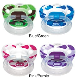 NUK Trendline Camouflage Size 2 Silicone Orthodontic Pacifier (Pack of 2)