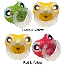 NUK Animal Faces Size 2 Silicone Pacifiers (Pack of 2)
