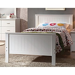 Bungalow White Finish Twin-size Bed