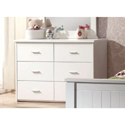White Bungalow 6-Drawer Dresser