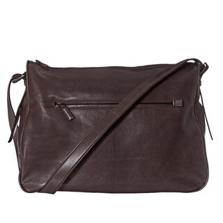 Prada Brown Leather Messenger Bag