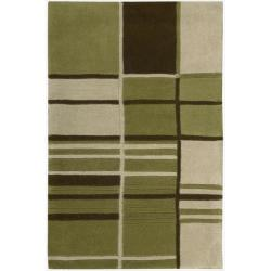 Nourison Hand-tufted Dimensions Green Rug (8' x 11')