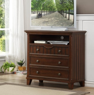 Alderson Warm Cherry Wood TV Chest