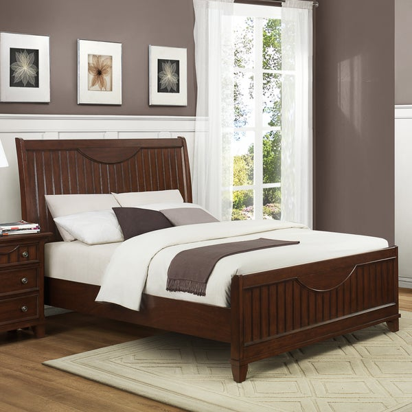 Alderson Warm Cherry Brown Cottage Queen-size Bed