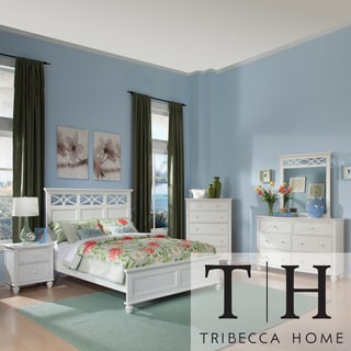 TRIBECCA HOME Piston Cottage White Queen-size 5-piece Bedroom Set