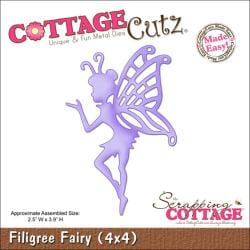 "CottageCutz Die 4""X4""-Filigree Fairy Made Easy"