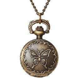 Pocket Watch 1/Pkg-Bronze Small Butterfly Lid