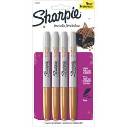 Sharpie Metallic Permanent Markers 4/Pkg-Bronze