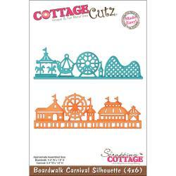 "CottageCutz Die 4""X6""-Boardwalk Carnival Silhouette Made Easy"