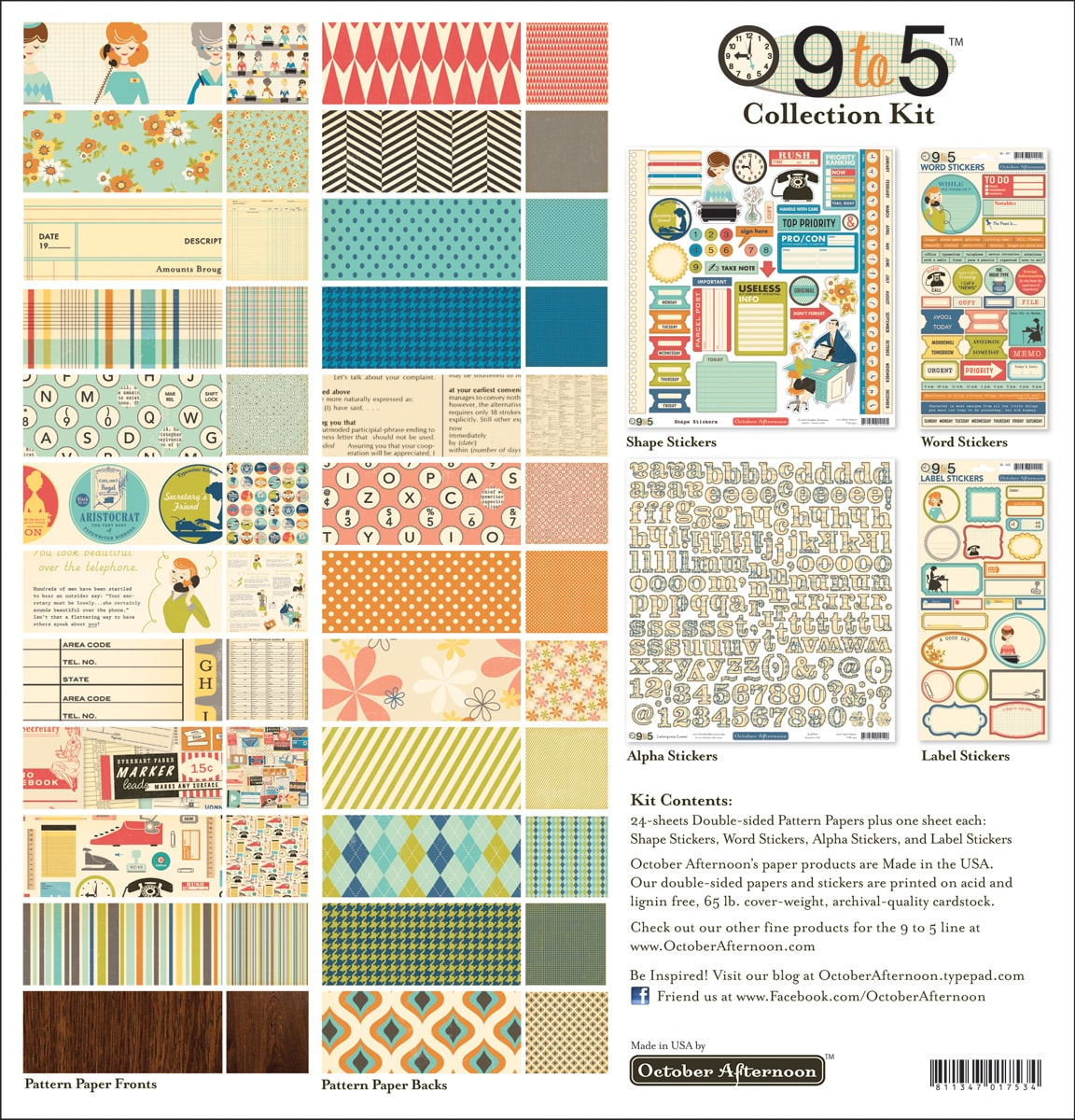 """9 To 5 Collection Kit 12""""X12""""-"""