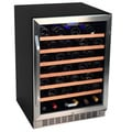 EdgeStar 53-bottle Black Steel Wine Cooler