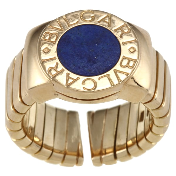 18k Yellow Gold Lapis Estate Ring