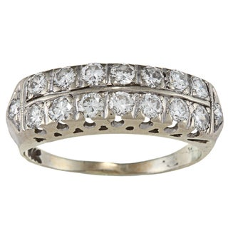 14k White Gold 1ct TDW Estate Ring (H-I, SI1-SI2)