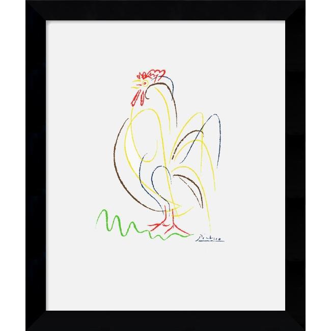 Pablo Picasso 'Rooster' Framed Art
