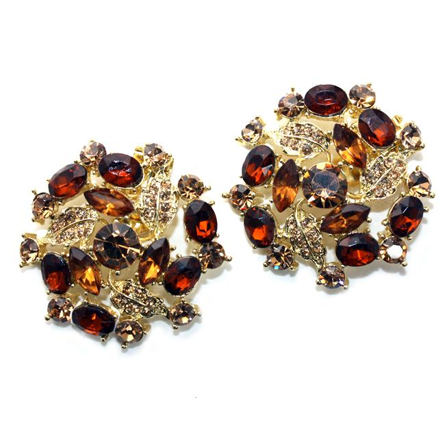 Absolutely Audrey Amber Rhinestone Shoe Clips Overstock