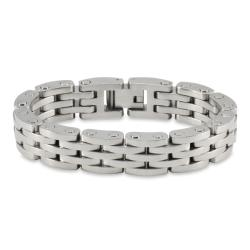 West Coast Jewelry Stainless Steel Men's Brushed and Polished Bracelet