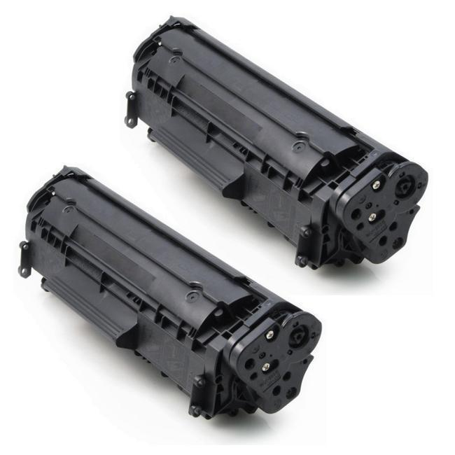 HP CE285A Compatible Black Toner Cartridges (Pack of 2)