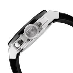 Swiss Legend Men's 'Trimix Diver' Black Silicone Chronograph Watch
