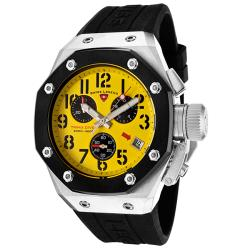 Swiss Legend Men's 'Trimix Diver' Black Silicone Chronograph Watch