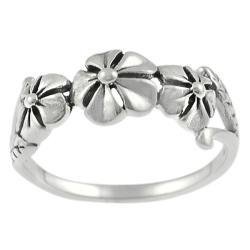 Tressa Sterling Silver Three-flower Ring