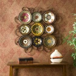Bologna Grid 9-piece Italian Plates Wall Art Set